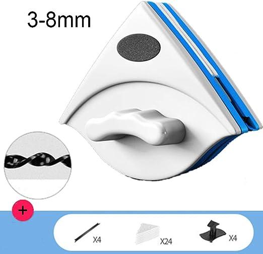Limpiador magnético para ventanas de doble cara con cepillo de limpieza de vidrio para ventanas de alto alzado con doble acristalamiento y cuerda anticaída 2: Amazon.es: Hogar