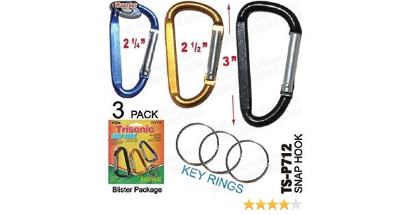 Hiking Climbing Heavy Duty Carabiner Aluminum Alloy Keychain Clip Snap Hook N8N3