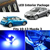 mazda 3 blue interior lights - Classy Autos Blue LED Lights Interior Package Deal Mazda 3 (5 Pieces)