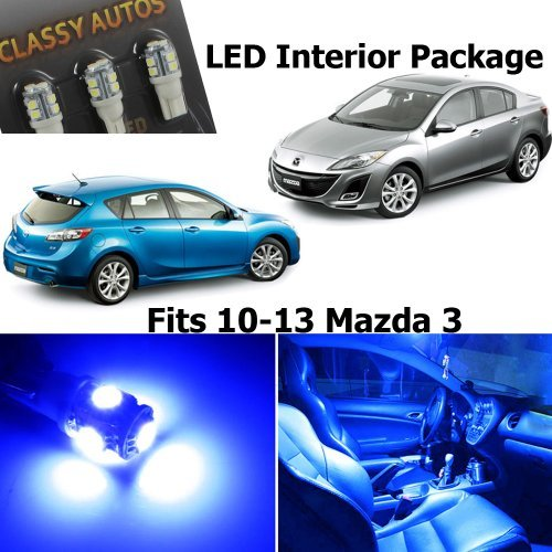 Classy Autos Blue LED Lights Interior Package Deal Mazda 3 (5 Pieces) (Mazda 3 Interior Accessories compare prices)