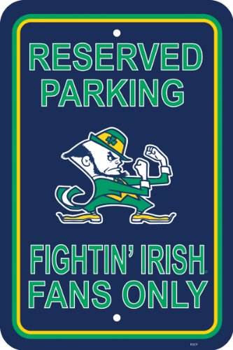 NCAA Notre Dame Fighting Irish 12-by-18 inch Plastic Parking ()
