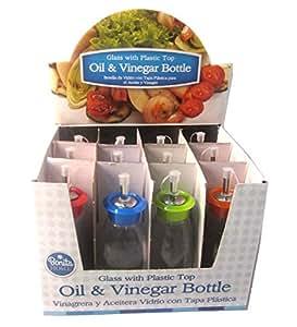 Glass Oil Vinegar Bottle, 6.3dx18cm, Case of 24