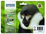 Epson T08954010 Ink Cartridge for S20/SX100 Series Printer, Black/Cyan/Magenta/Yellow, Genuine