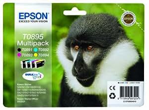 Epson C13T08954010 - Pack de 4 cartuchos de tinta, color