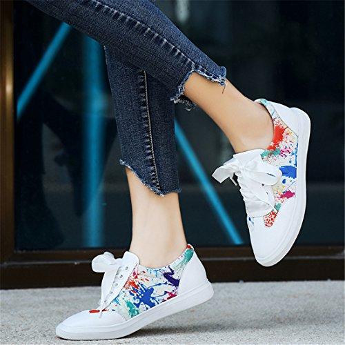 Sport De Plein Air Pour Femme Running Chaussures De Marche Léger Sneakers Occasionnels A8107-6h Noir