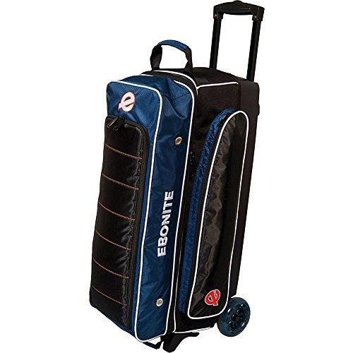 Ebonite Eclipse Triple Roller Bowling Bag, Navy