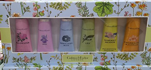 Crabtree & Evelyn London Ultra Moisturizing Hand Therapy 6-pack 0.9 Oz/each (GIFT SET) (Evelyn Gift Sets)