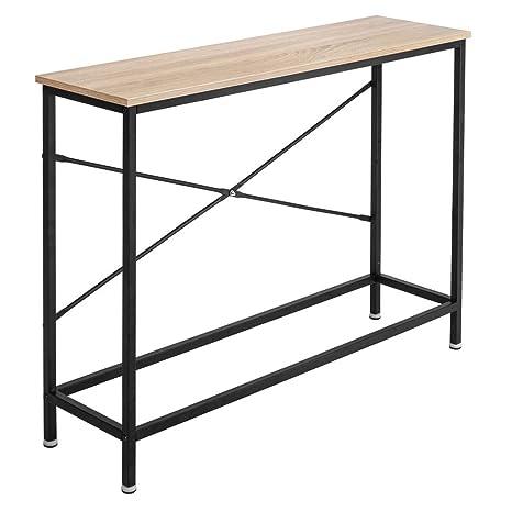 Amazon.com: Bonnlo - Mesa de consola con marco de metal ...