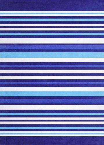 Dohler Horizontal Bold Stripes Beach Towel, Blue