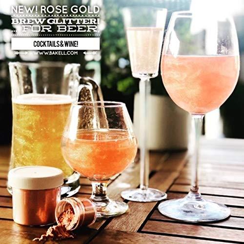 Rose Gold Beer & Beverage Glitter | 50 Gram Jar | Edible Food Grade Beer Glitter, Cocktail Glitter & Beverage Glitter-Dust from Bakell by Bakell (Image #2)