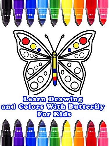Aprenda Desenho e Cores Com Borboleta Para Crianças