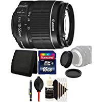Canon EF-S 18-55mm f/3.5-5.6 IS II Lens with 16GB Ultimate Accessory Kit for Canon EOS 550D 500D 450D 400D