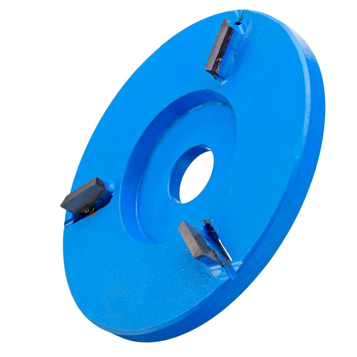 SODIAL Woodworking Turbo Plane Wood Carving Blade Suitable For 16Mm Angle Angle Grinder Blue grinding plane