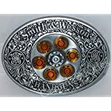 Smith & Wesson Spinner Belt Buckle Belts ~ The Center Actually Spins! - Ships from Ontario, Canada