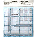 Patchwork & Quilting Ruler with Grid 6.5 inch x 6.5 inch (same size as Omnigrid) by Le Summit