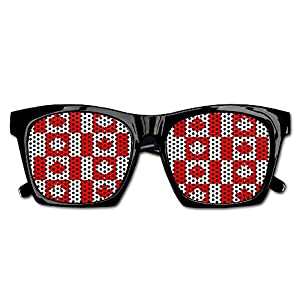 Ysm&Gaz Seamless Canada Flag Pattern Unisex Polarized Party Sunglasses Resin Frame Eyewear Favor Mesh Lens Sun Glasses