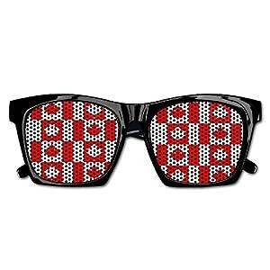 Ysm&Gaz Seamless Canada Flag Pattern Unisex Polarized Party Sunglasses Resin Frame Eyewear Favor Mesh Lens Sun Glasses