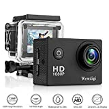 Wewdigi EV5000 Action Camera , 12MP 1080P 2 Inch LCD Screen , Waterproof Sports Cam 140 Degree Wide Angle Lens , 30m Sport Camera DV Camcorder With 10 Accessories Kit-T7 (black-1)
