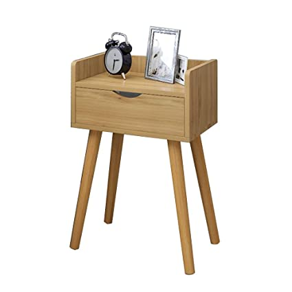 . Amazon com  Bedside table XIAODONG Retro Style 1 Drawer Cabinet
