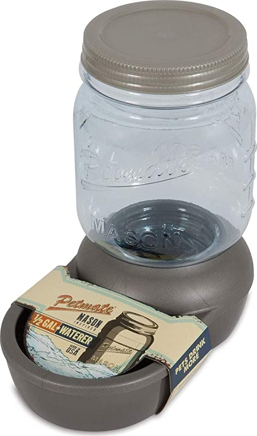 Petmate Replendish Mason Gravity Waterer Cat Dog Water Dispenser 4 Sizes