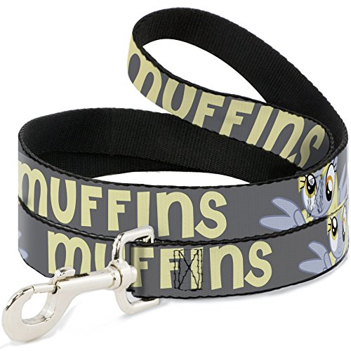 buckle-down-dl-6ft-wmlp018-dog-leash-derpy-hooves-my-little-pony-muffins-gray-yellow-6