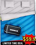 FUNDANGO Queen Size XL Double Sleeping Bag for Camping ,Hiking,Traveling,2 Person Sleeping Bag with 2 Pillows and Compression Bag Review