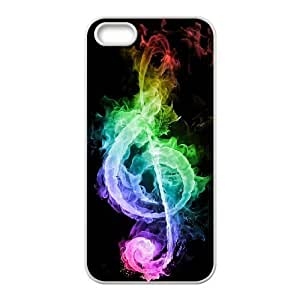 JFLIFE Clef Music Phone Case for iphone5s White Shell Phone [Pattern-1]
