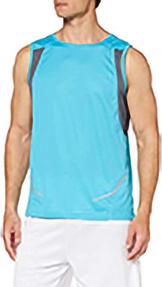 Ideal Running//Gym y Otros Deportes Spiro Camiseta de Deporte Transpirable sin Mangas para Hombre