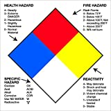 Tape Logic TLDL1288 Labels Health Hazard Fire Hazard Specific Hazard Reactivity, 4'' x 4'', Multiple, 1 Roll of 500 Labels