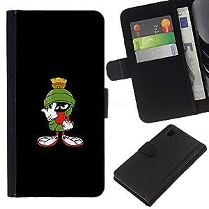 All Phone Most Case / Oferta Especial Cáscara Funda de cuero Monedero Cubierta de proteccion Caso / Wallet Case for Sony Xperia Z1 L39 // FUNNY - MARTIAN