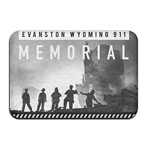 HUYF743 Evanston Wyoming 911 Memorial Never Be Forgetten Designed Doormat Entrance Mat Floor Mat Rug Indoor/Outdoor/Front Door/Bathroom Mats Rubber Non Slip