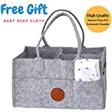 JAG Jr Baby Diaper Caddy and Storage Organizer | Foldable Diaper Bag for Infants, Girls and Boys | Baby Registry | Large & Sturdy Nursery Bin | Great Baby Shower Party GIFT | Newborn Car Travel Ba