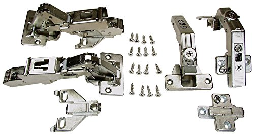 BLUM LAZY SUSAN BIFOLD DOOR HINGE SET COMPLETE,SCREWS AND BUMPERS INCLUDED,FOR 1/2 INCH OVERLAY APPLICATION,MOUNTING PLATE WILL WORK WITH FACE FRAME OR EURO STYLE APPLICATIONS (Commercial Susan Lazy)