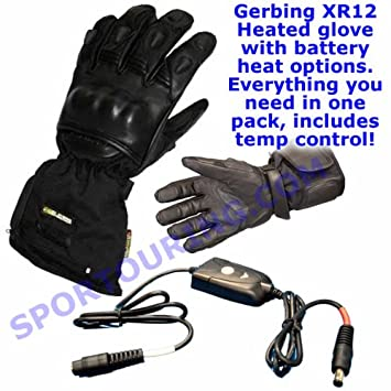 Gerbing Xr12 Hybrid Heated Motorcycle Gloves M Amazon Co Uk Car