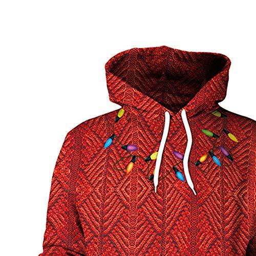 Mode Outwear Nouvelle Capuche Shobdw Wapiti Femmes Manteaux Automne De Pullover Hiver Longues Casquettes Sweatshirts 2018 Manches Tops Confortable Noël Veste Rouge Impression Blouson Élégant q7xx5SCEw
