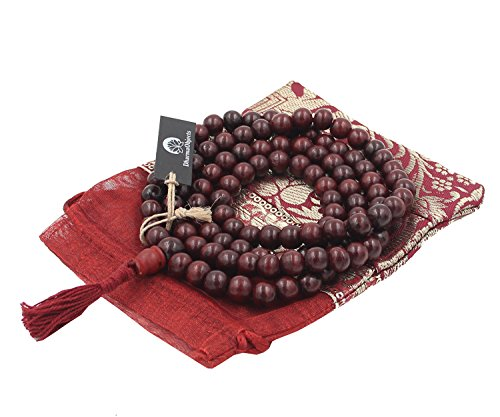 DharmaObjects Tibetan 108 Beads Rosewood Meditation Mala / Prayer Beads / Rosary (Rosewood Beads Wood)