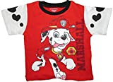 Nickelodeon Paw Patrol Boys Toddlers Marshall Cape T-Shirt (2T, Red/Black)