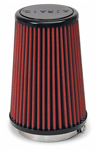 Airaid 701-433 Universal Clamp-On Air Filter: Round Tapered; 3.25 in (83 mm) Flange ID; 7 in (178 mm) Height; 4.625 in (117 mm) Base; 3.5 in (89 mm) Top