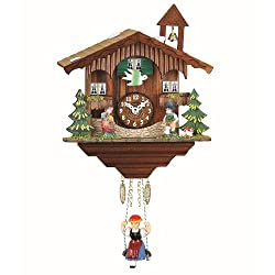 Kuckulino Black Forest Clock Swiss House with quartz movement and cuckoo chime, incl. battery TU 2041 SQ