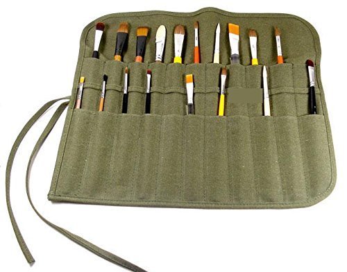 Flyshine Canvas Artist Brush Holder Rollup Protection (42x36cm)
