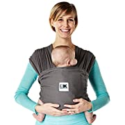 Baby K'tan BREEZE Baby Carrier, Charcoal Grey Cotton Mesh (M)