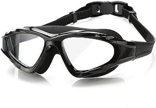 KinTTnyfgi Gafas Ajustables Gafas de natación Gafas de natación HD Niebla Impermeable para Hombres y Mujeres Caja Grande Adultos Equipos de natación Transparentes (Color: Negro), QLshop