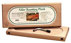 Nature's Cuisine NC003 17-Inch x 7-Inch Alder Oven Roasting Plank with Tool (Wood)