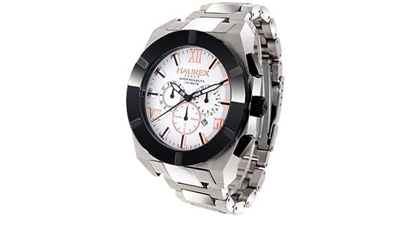 Amazon.com: Haurex Italy Mens 0A305USH Challenger Chronograph Steel Watch: Haurex Italy: Watches