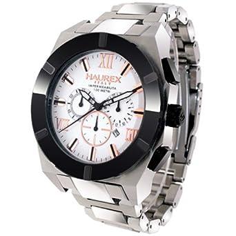 Haurex Italy Mens 0A305USH Challenger Chronograph Steel Watch