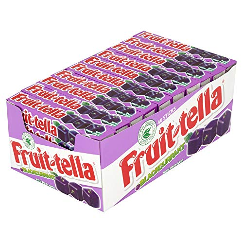 Fruit Tella Blackcurrant Flavoured Chewy Sweets 42.5 G (pack Of 40) ()