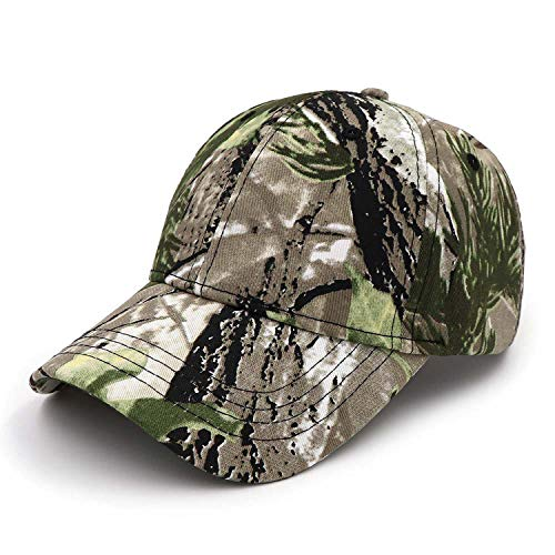 Outdoor Fishing Cap Jungle Baseball Cap Hunt Hat Bionic Breathable Cotton Fishing Hat Camouflage Dad Caps