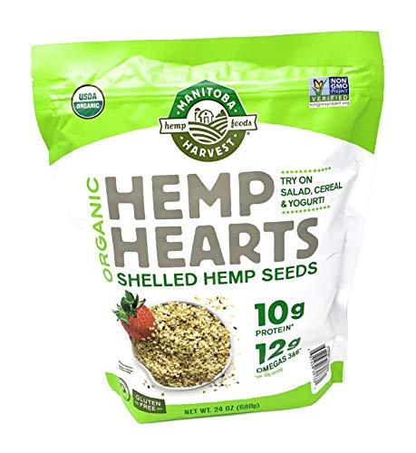 Manitoba Harvest Organic Hemp Hearts Raw Shelled Hemp Seeds, 1Pack (24 OZ Each)