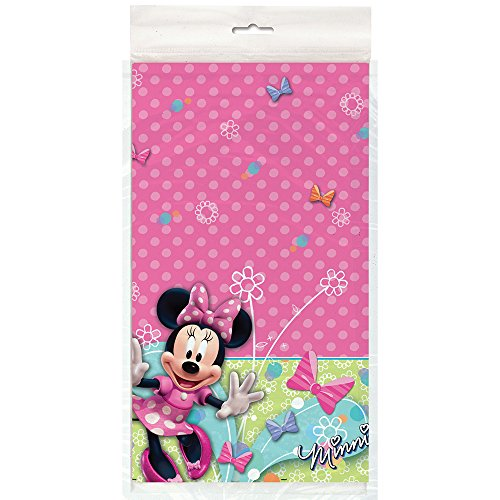(Minnie Mouse Party Plastic Table Cover)