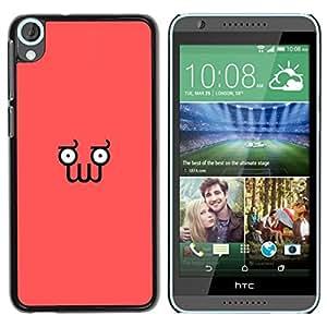 Caucho caso de Shell duro de la cubierta de accesorios de protección BY RAYDREAMMM - HTC Desire 820 - Divertido minimalista Squid Cara Z0Idberg